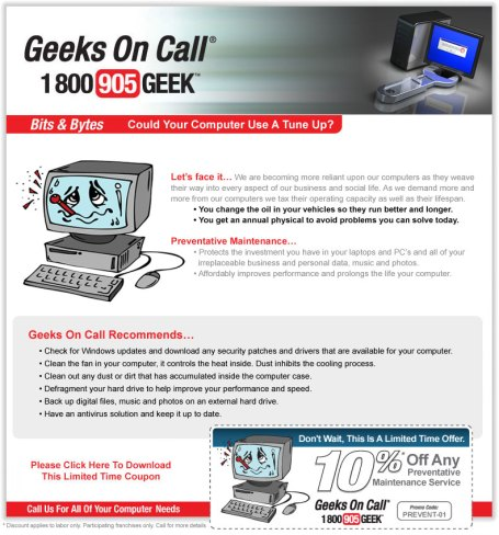 Geeks On Call Weekly Update July 10th